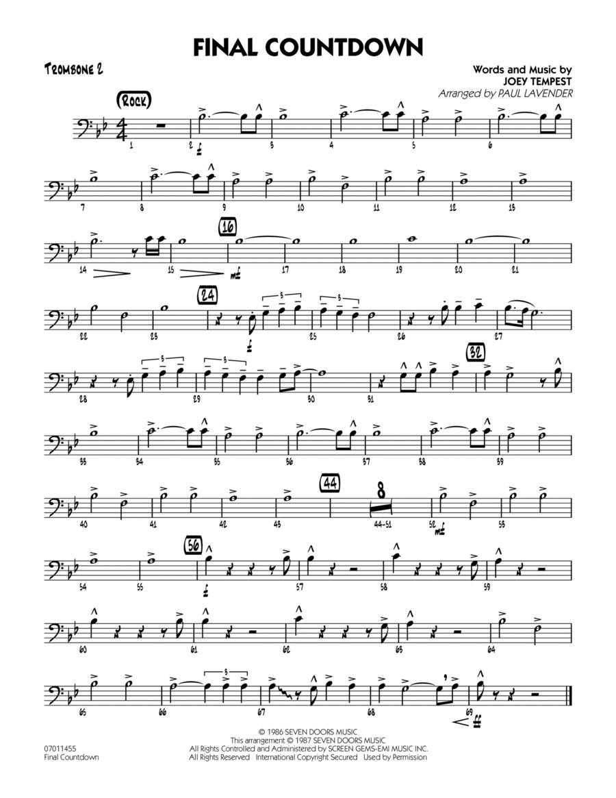 Final Countdown - Trombone 2