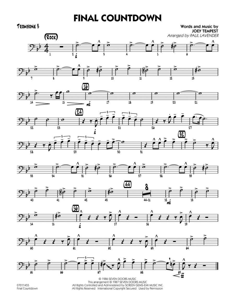 Final Countdown - Trombone 3