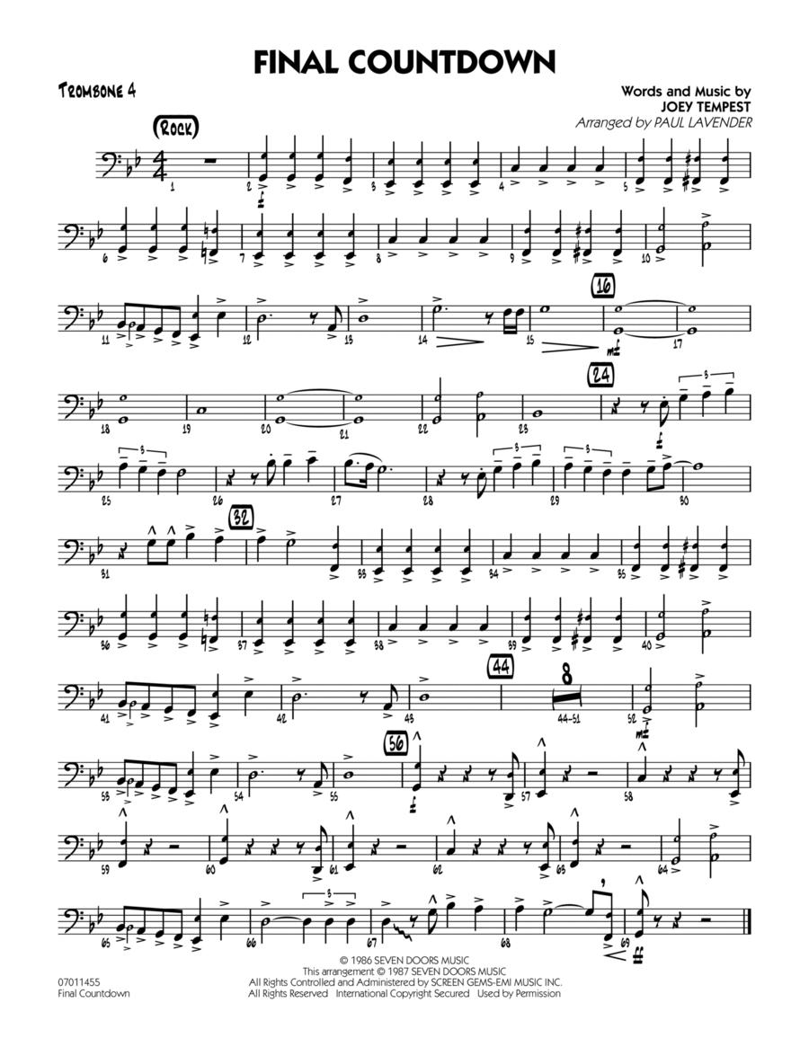 Final Countdown - Trombone 4