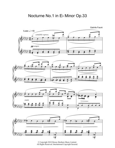 Nocturne No. 1 In E Flat Minor, Op. 33