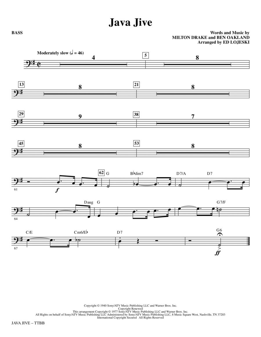 Java Jive (TTBB Octavo Accompaniment Parts) - Bass