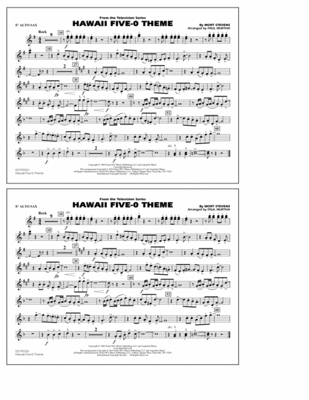 Hawaii Five-O Theme - Eb Alto Sax