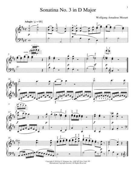 Sonatina No. 3 In D Major