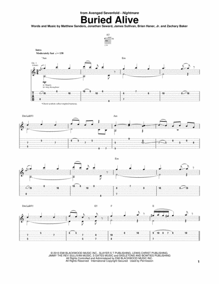 Guitar u00bb Guitar Tabs Avenged Sevenfold - Music Sheets, Tablature, Chords and Lyrics