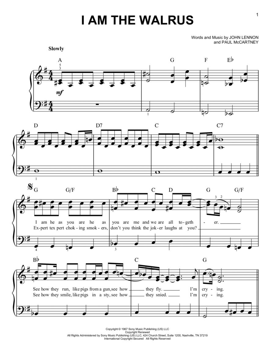 i am the walrus sheet music pdf