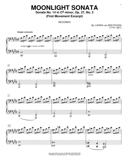 Piano Sonata No. 14 In C# Minor (