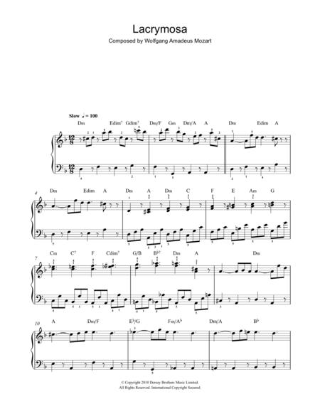 Lacrymosa (from Requiem Mass)