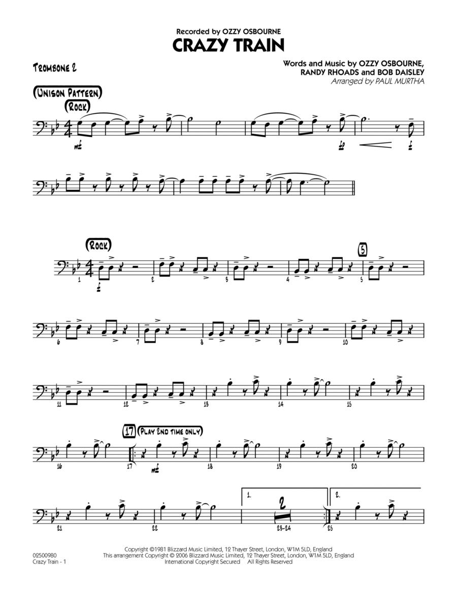 Crazy Train - Trombone 2