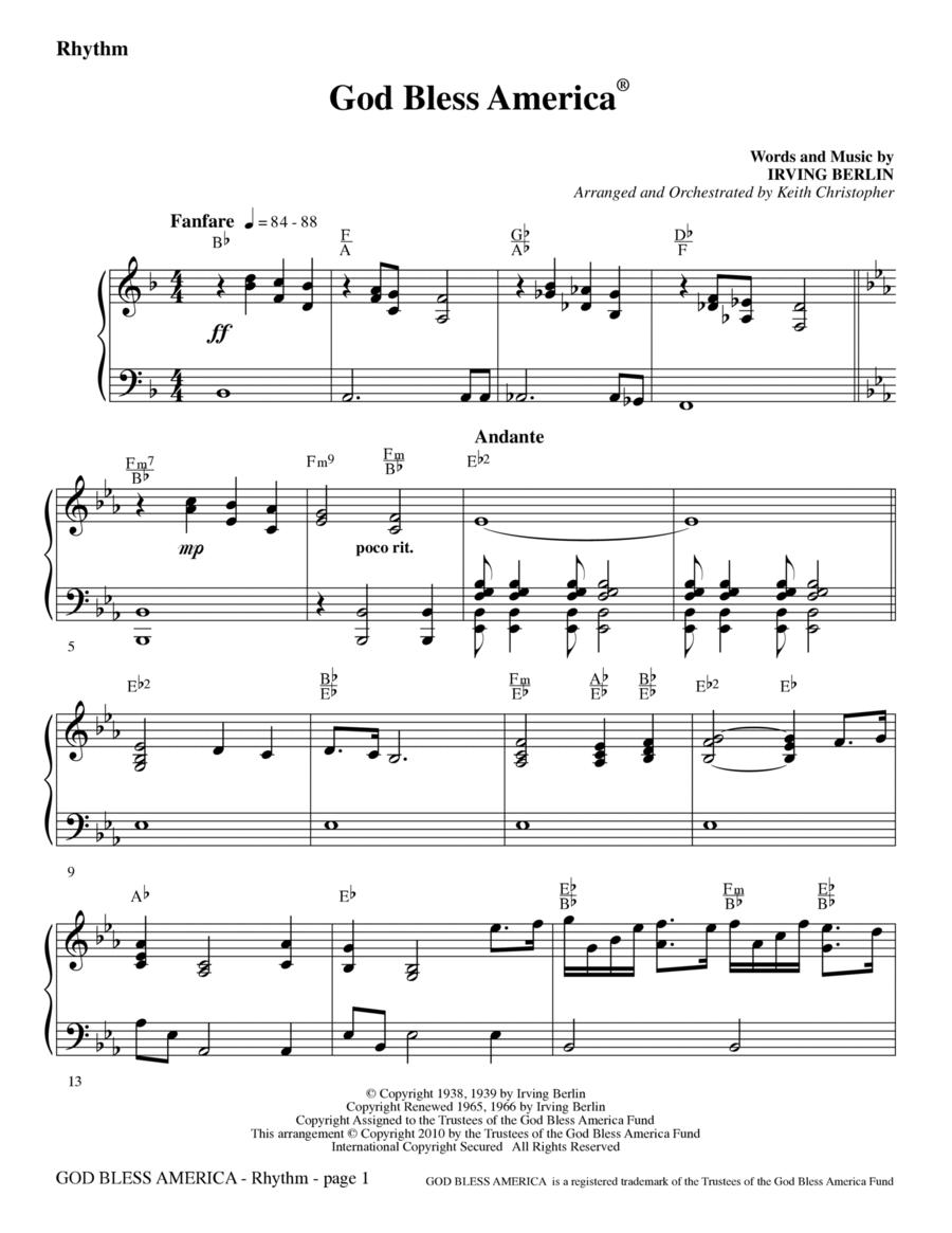 God Bless America - Rhythm