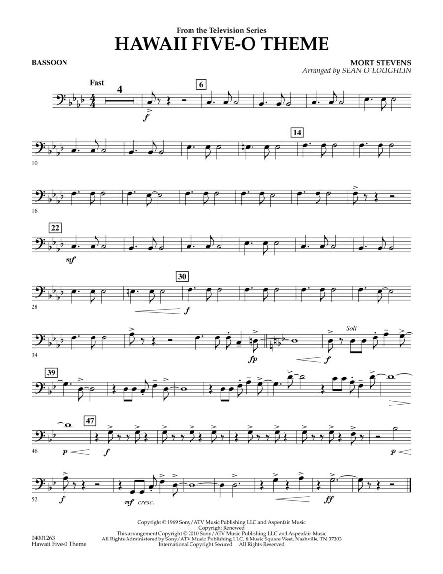 Hawaii Five-O Theme - Bassoon