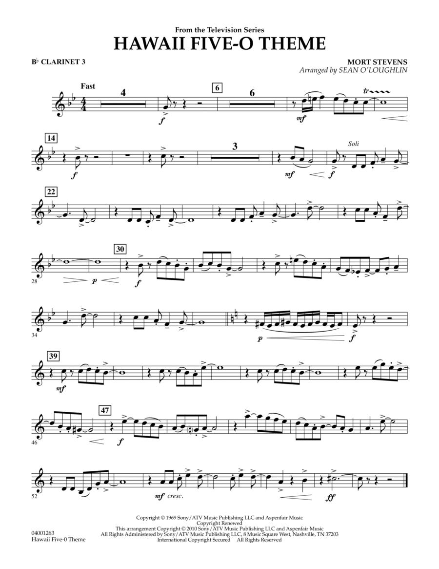 Hawaii Five-O Theme - Bb Clarinet 3