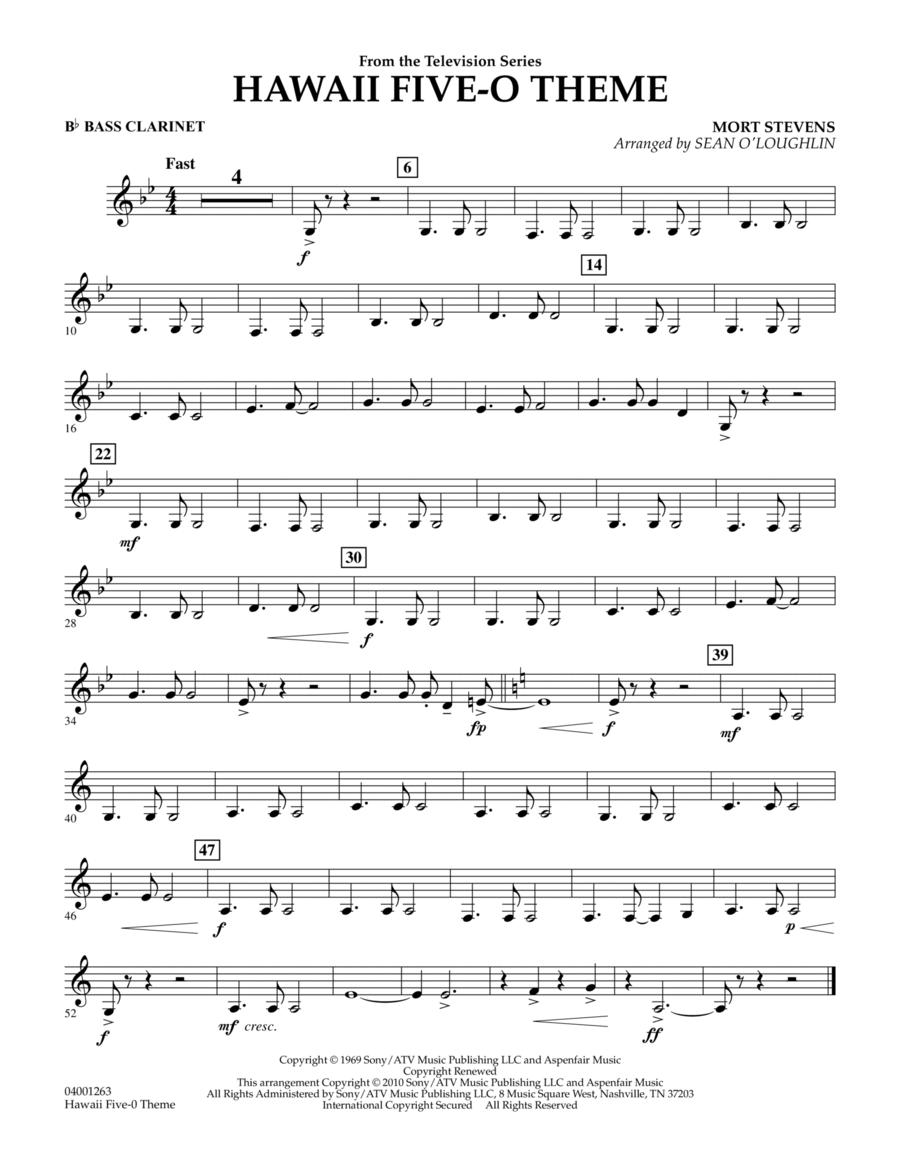 Hawaii Five-O Theme - Bb Bass Clarinet