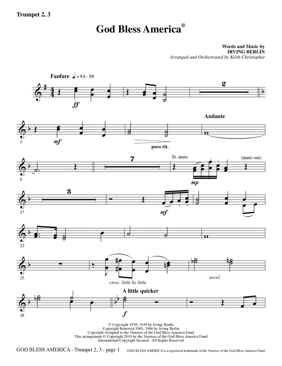God Bless America - Trumpet 2 & 3