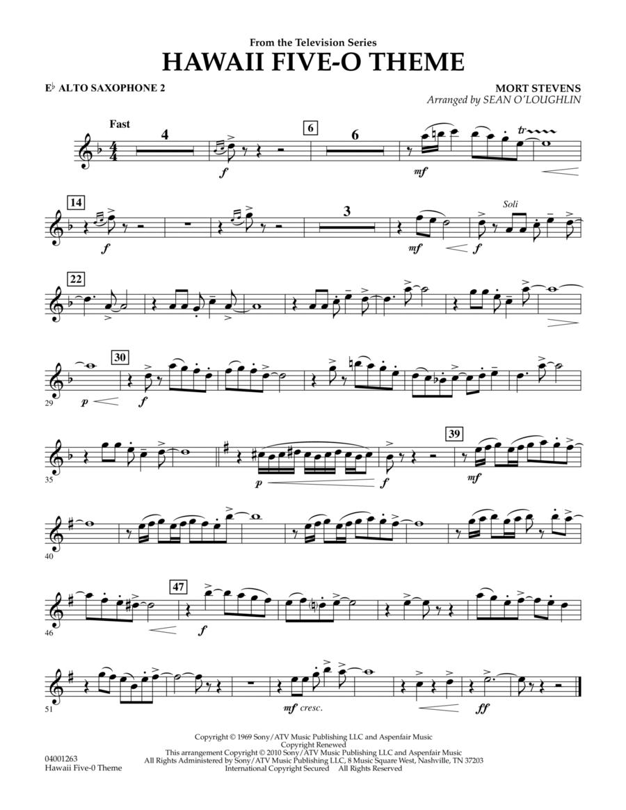 Hawaii Five-O Theme - Eb Alto Saxophone 2