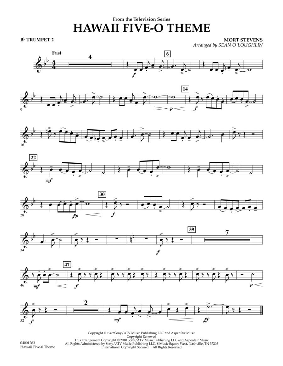 Hawaii Five-O Theme - Bb Trumpet 2