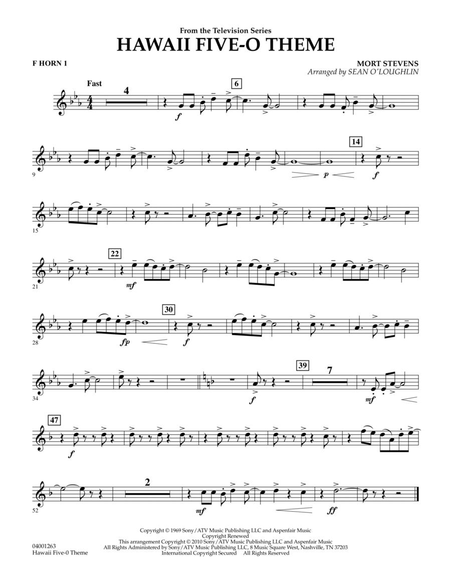 Hawaii Five-O Theme - F Horn 1