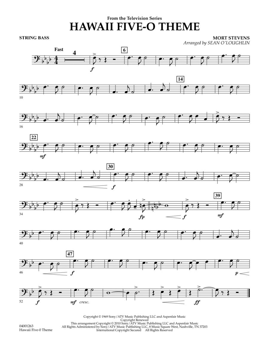 Hawaii Five-O Theme - String Bass