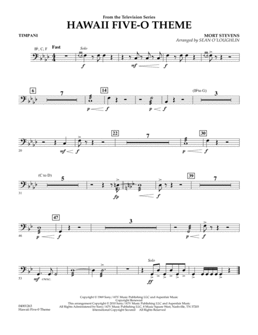 Hawaii Five-O Theme - Timpani