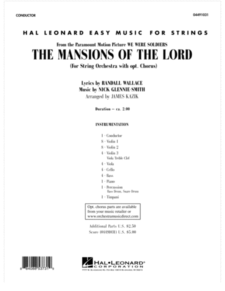 The Mansions Of The Lord (from We Were Soldiers) - Full Score