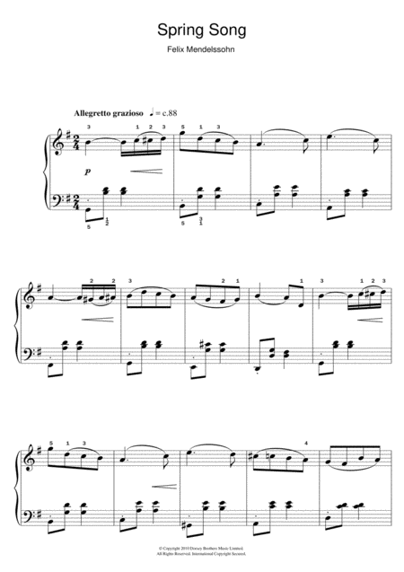 Spring Song, From Songs Without Words, Op. 62