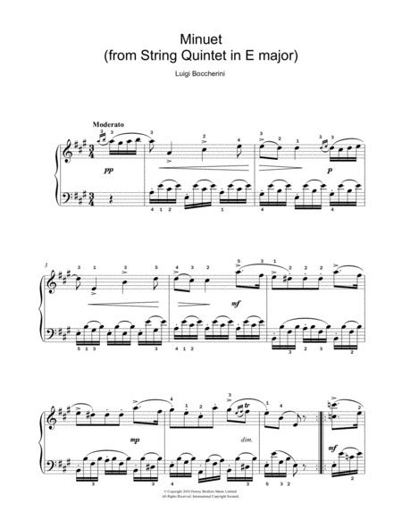 Minuet (from String Quartet In E Major, Op. 11 No. 5)