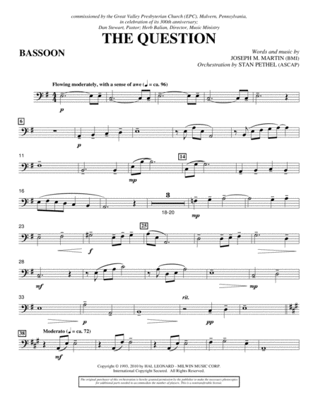 The Question - Bassoon