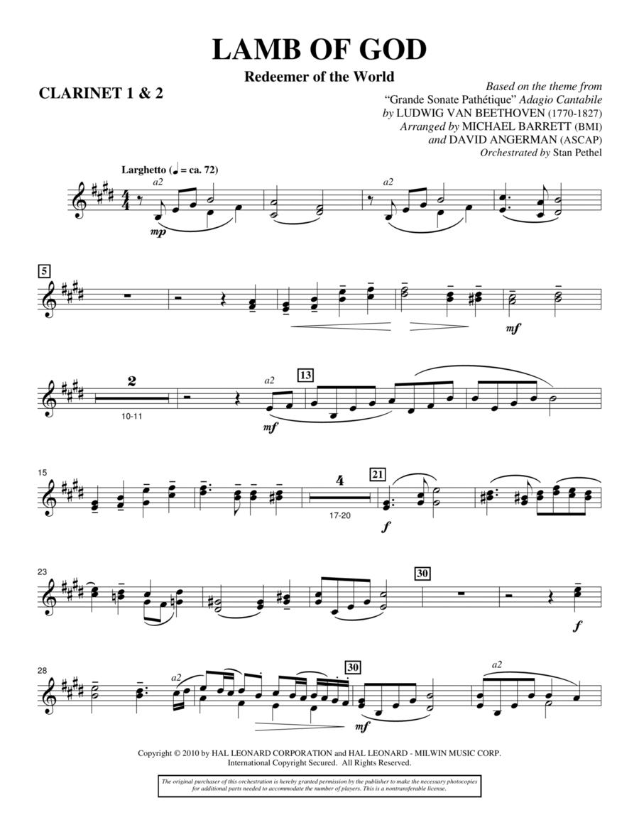 Lamb Of God (Redeemer Of The World) - Bb Clarinet 1,2