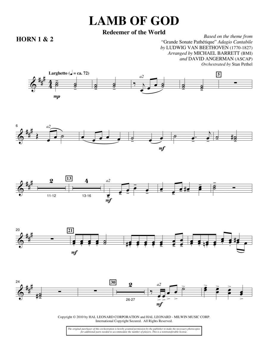 Lamb Of God (Redeemer Of The World) - F Horn 1,2
