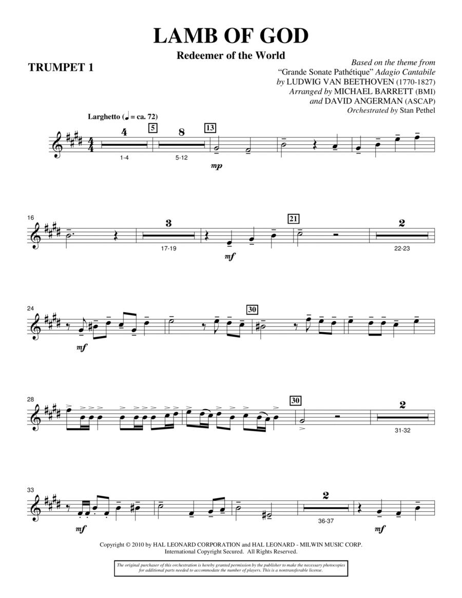 Lamb Of God (Redeemer Of The World) - Bb Trumpet 1