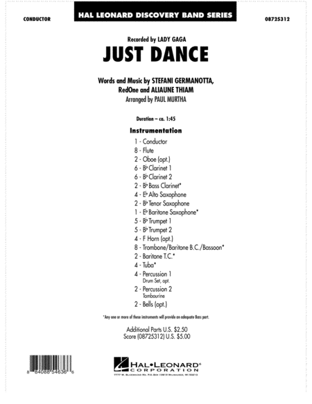 Just Dance - Full Score