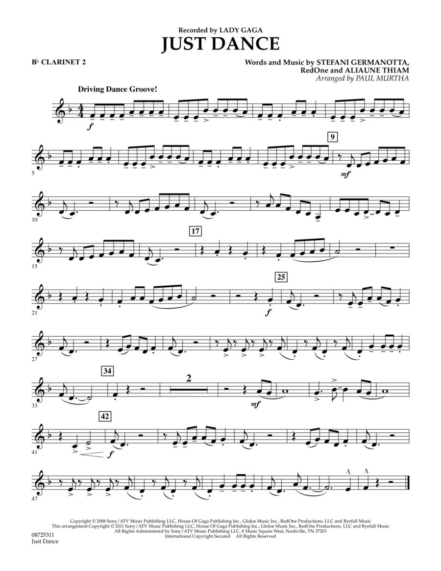 Just Dance - Bb Clarinet 2
