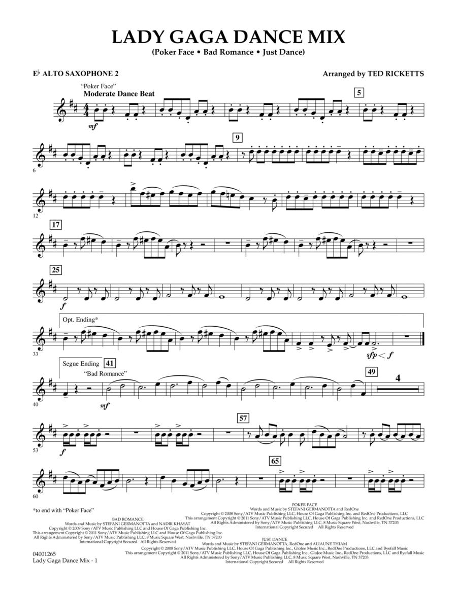Lady Gaga Dance Mix - Eb Alto Saxophone 2