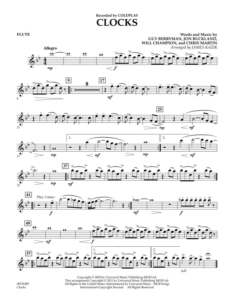 Clocks - Flute