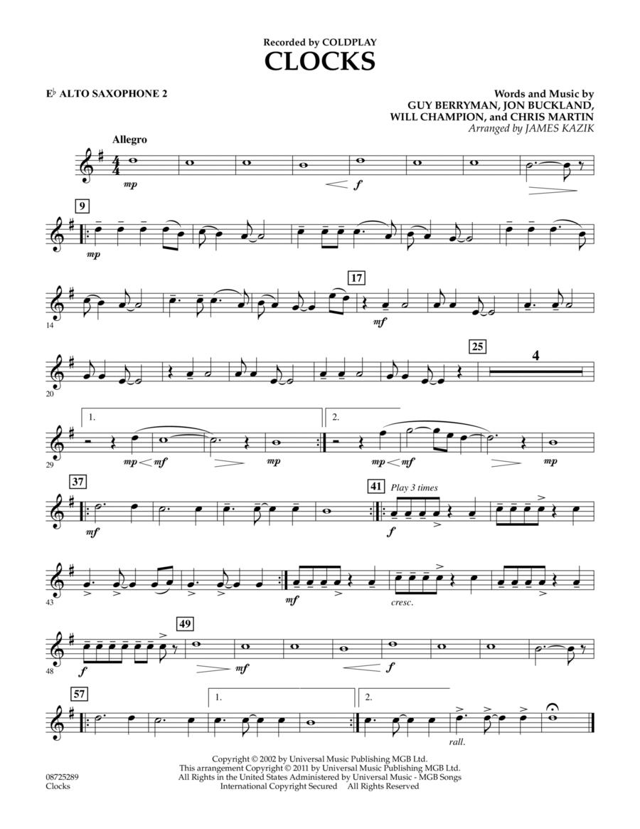 Clocks - Eb Alto Saxophone 2
