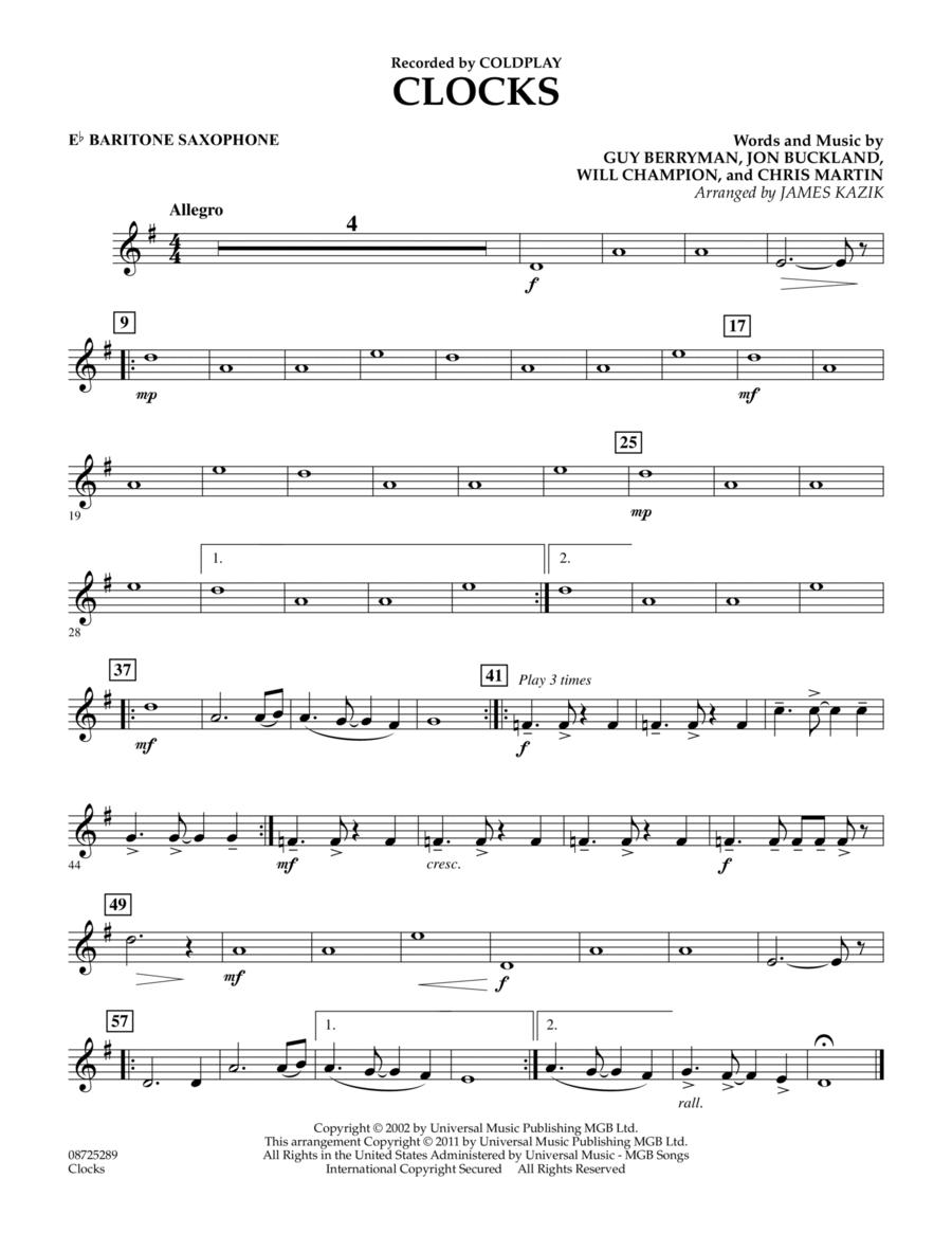 Clocks - Eb Baritone Saxophone