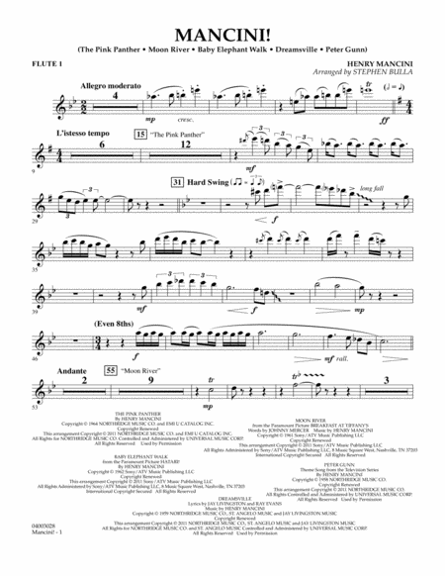 Mancini! - Flute 1