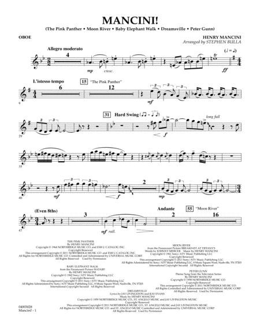 Mancini! - Oboe