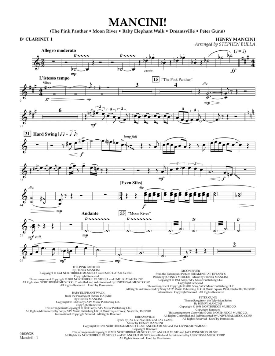 Mancini! - Bb Clarinet 1