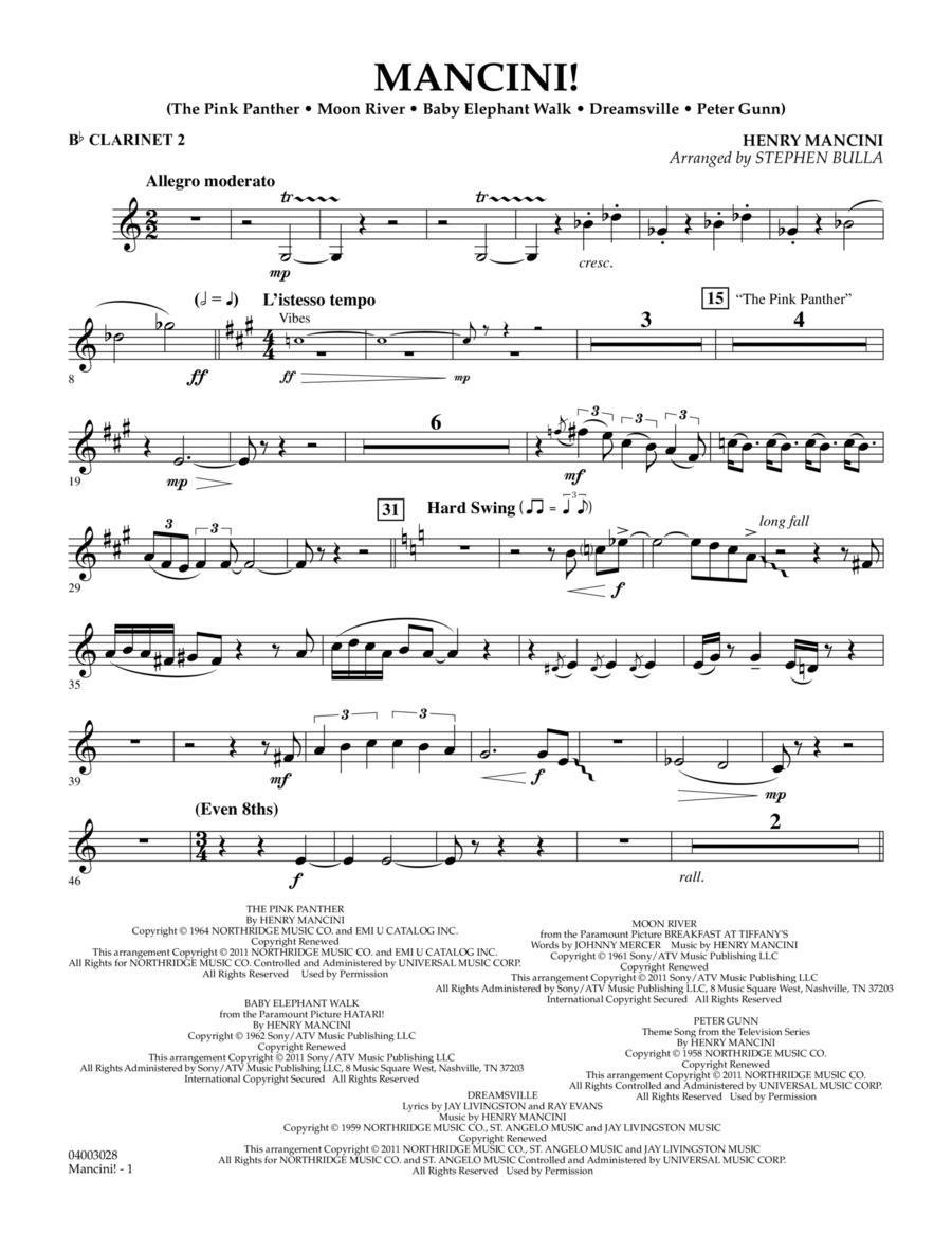 Mancini! - Bb Clarinet 2