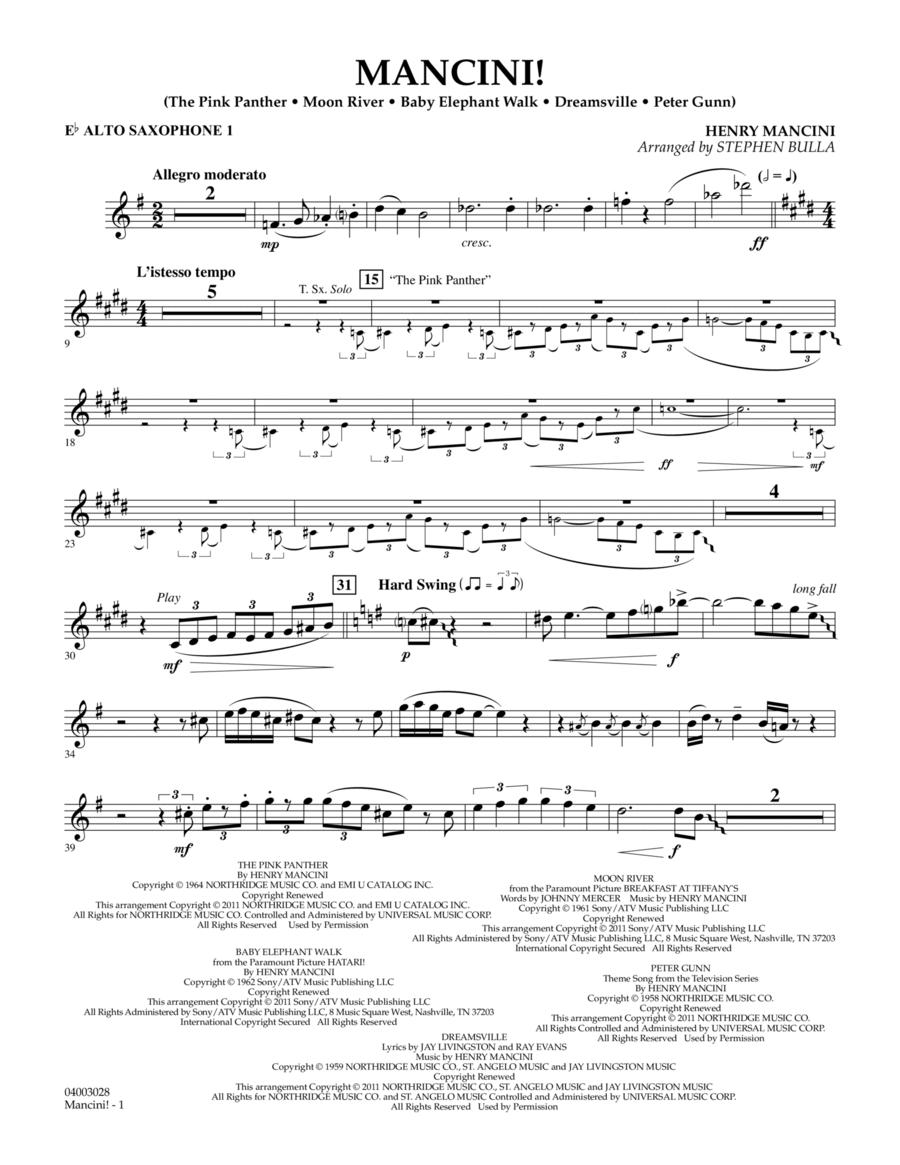Mancini! - Eb Alto Saxophone 1