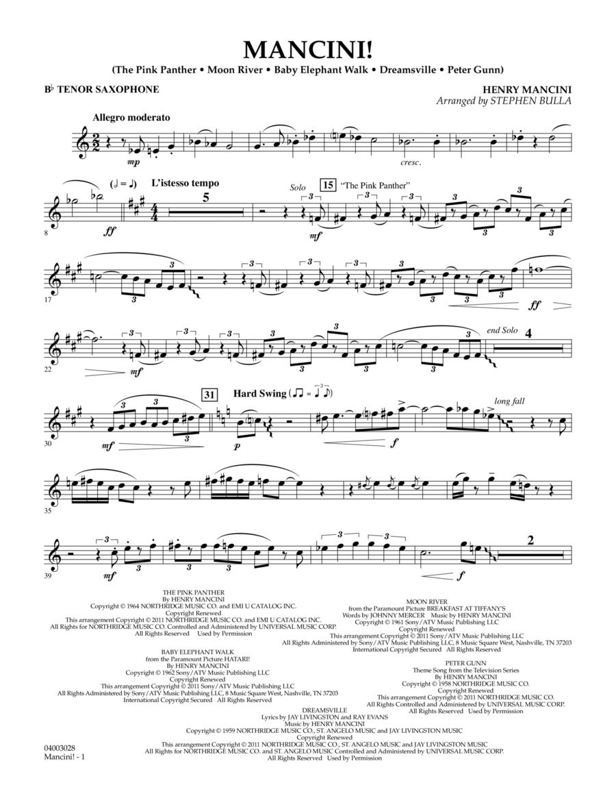 Mancini! - Bb Tenor Saxophone