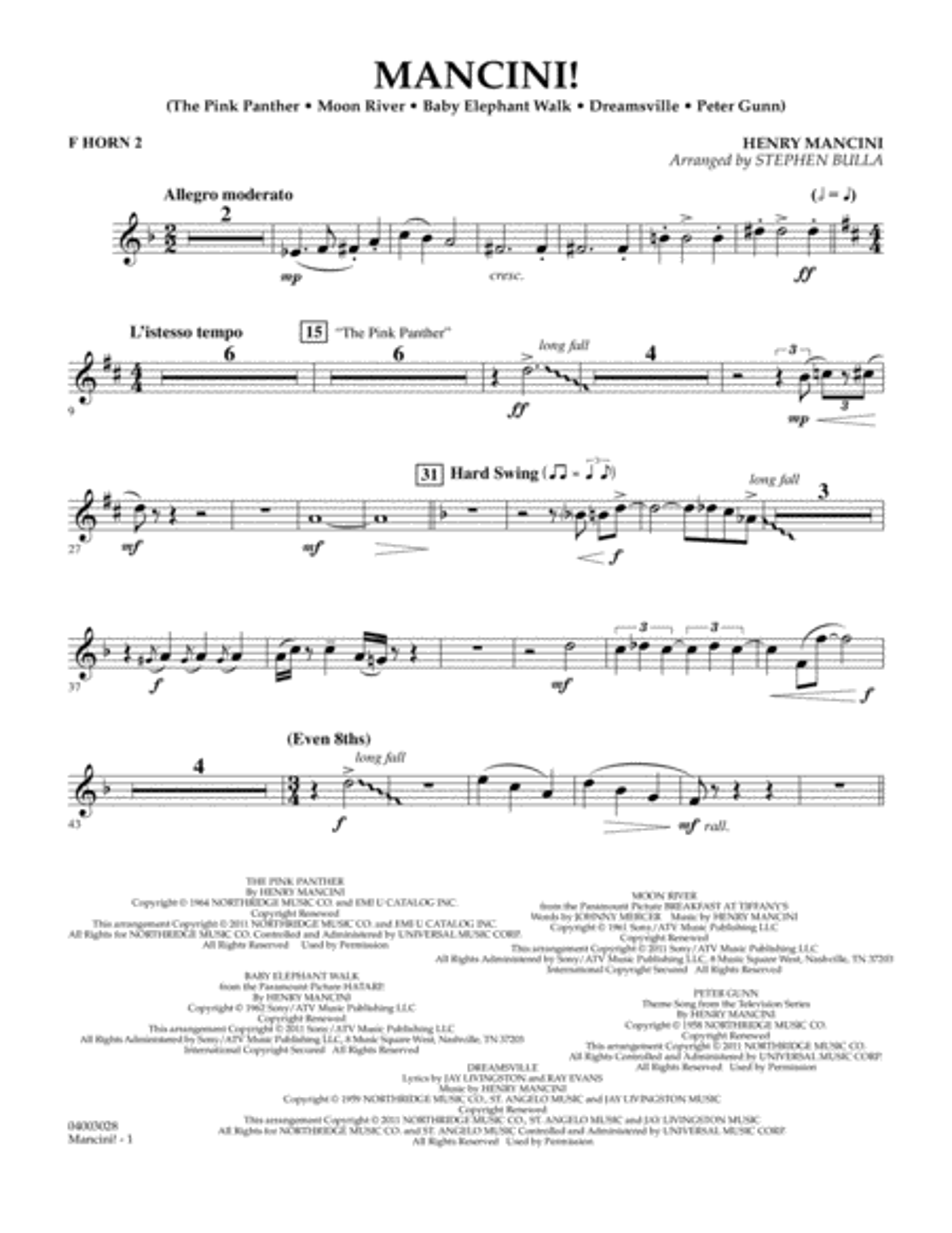 Mancini! - F Horn 2