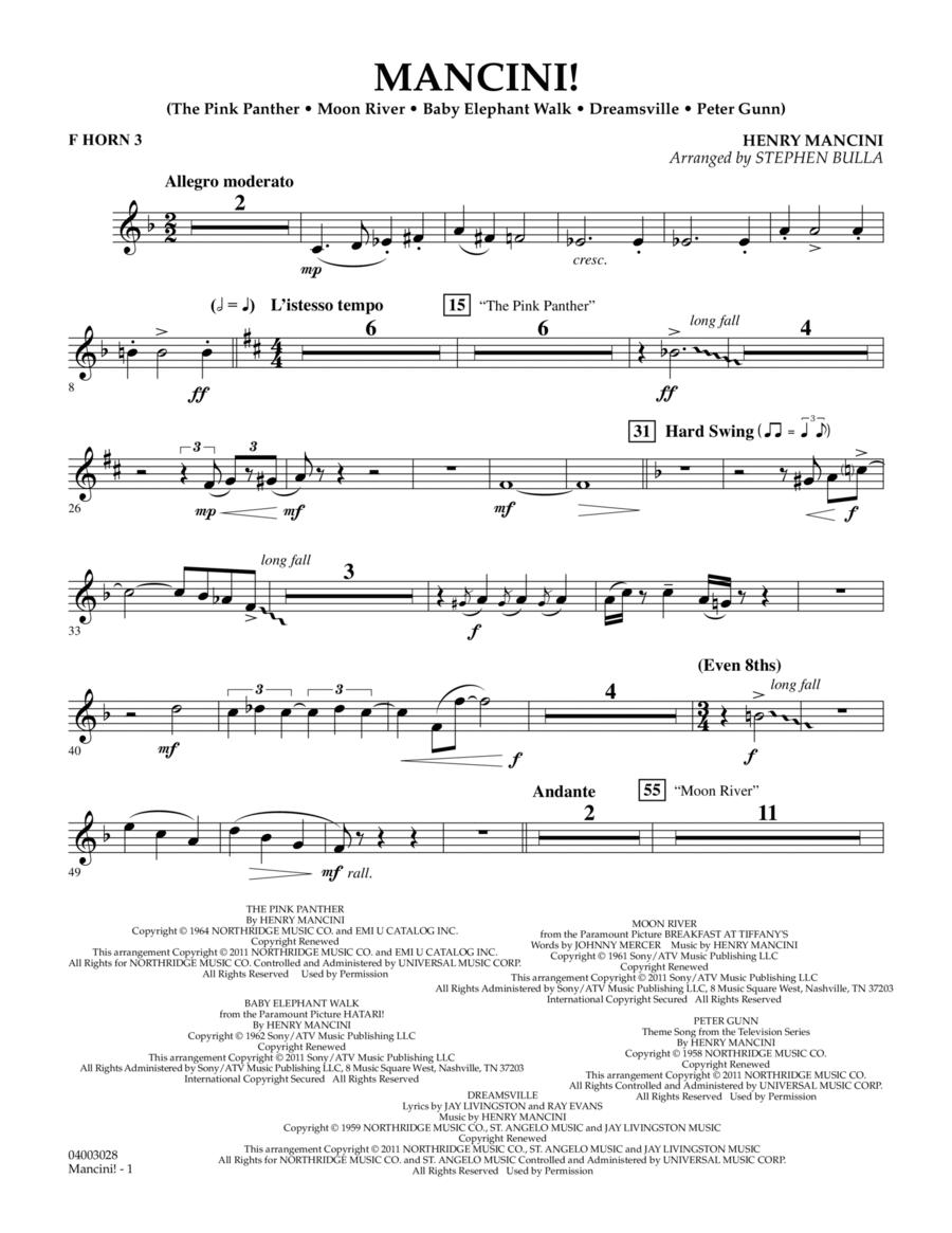 Mancini! - F Horn 3