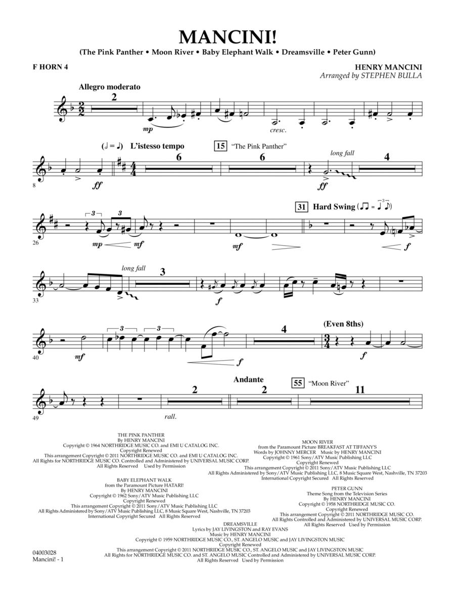 Mancini! - F Horn 4