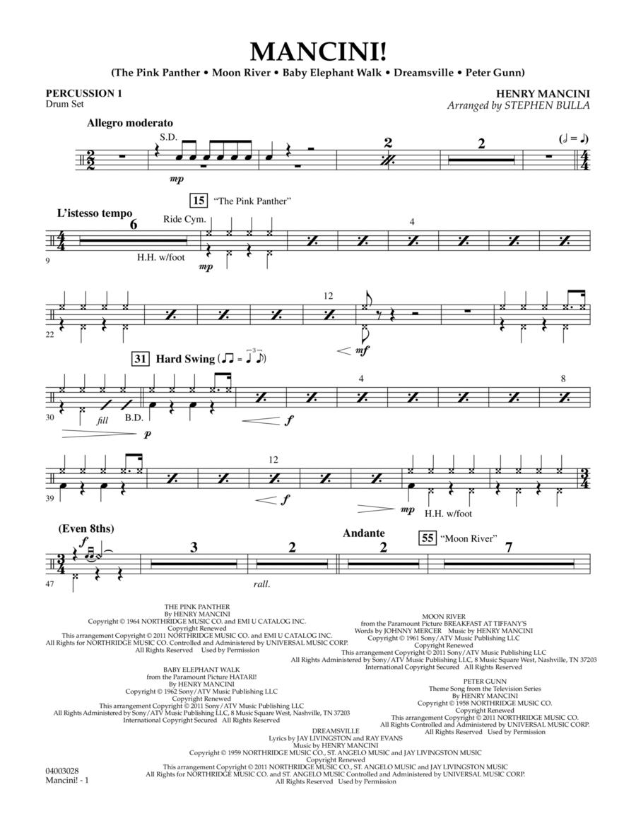 Mancini! - Percussion 1