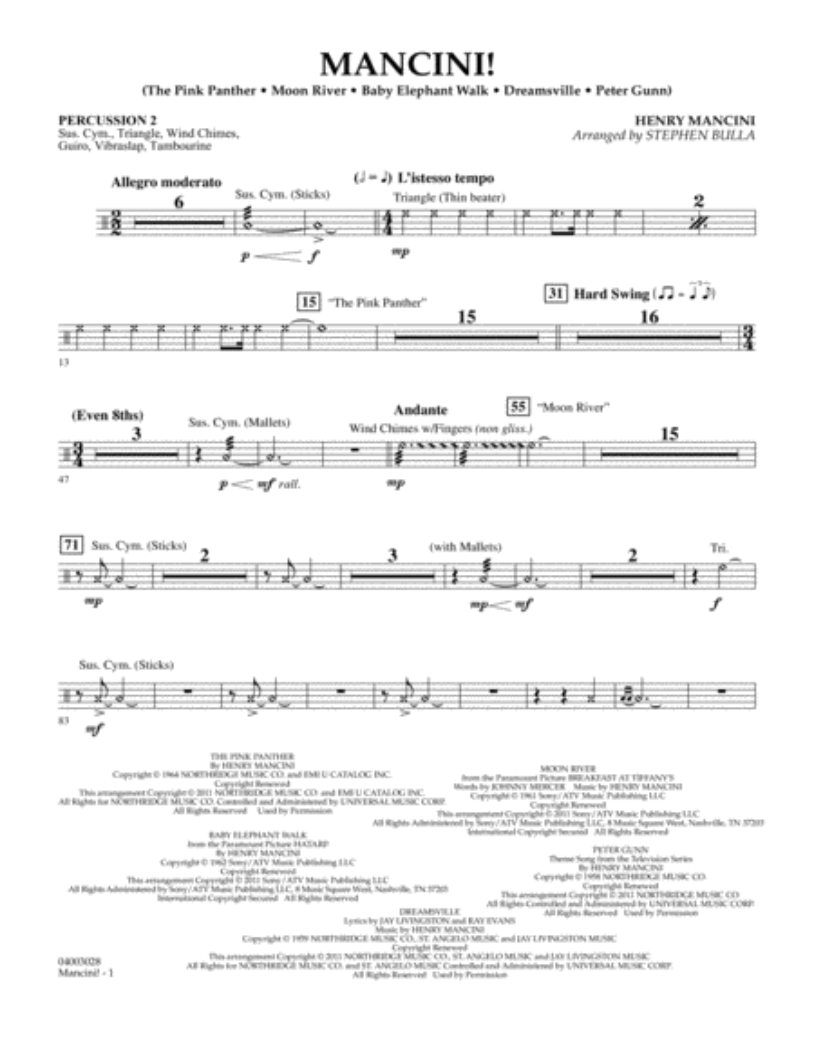 Mancini! - Percussion 2