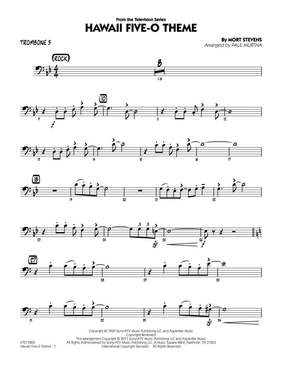 Hawaii Five-O Theme - Trombone 3