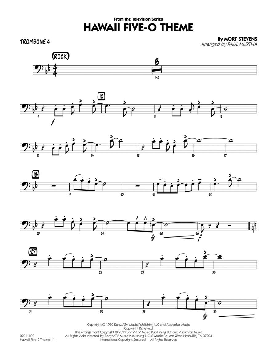 Hawaii Five-O Theme - Trombone 4