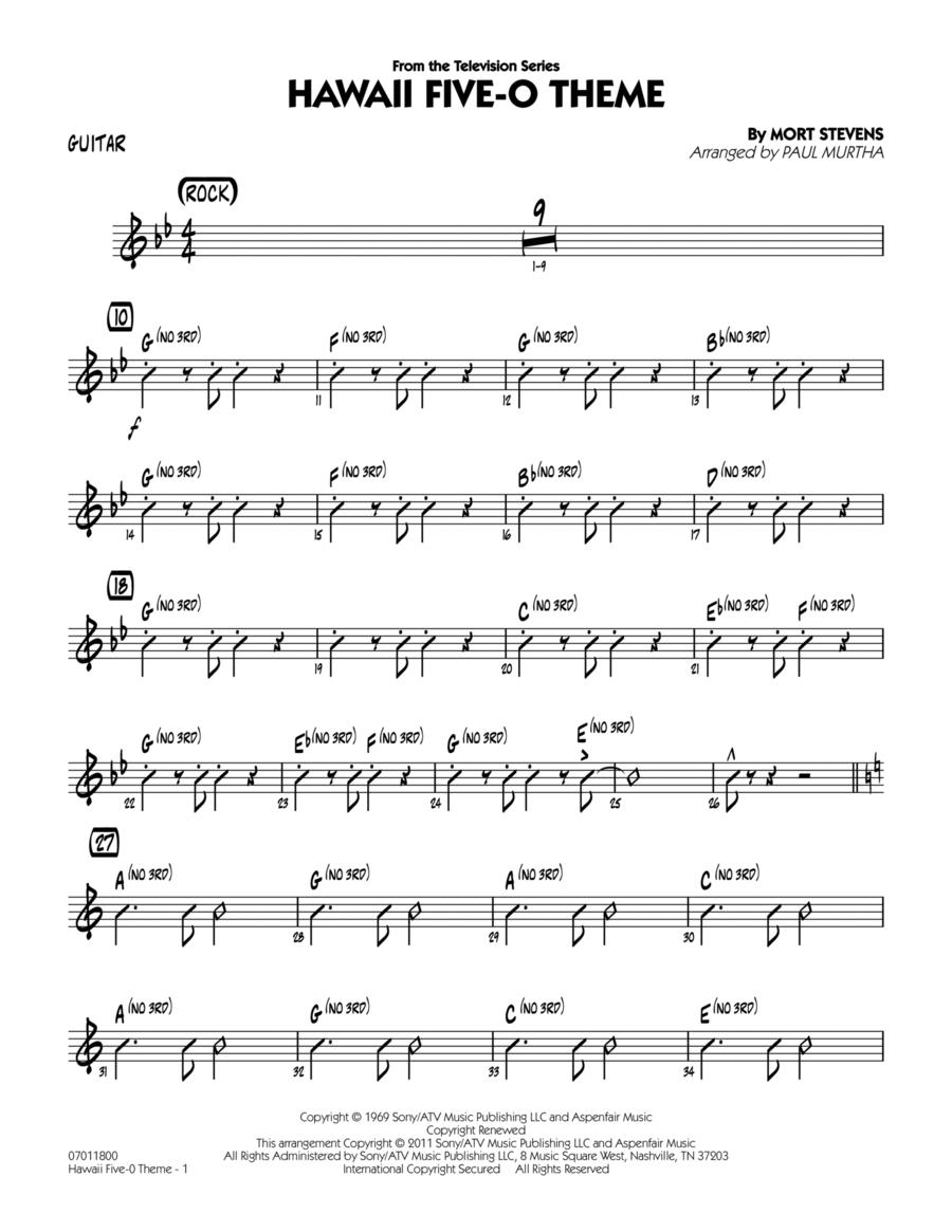 Hawaii Five-O Theme - Guitar