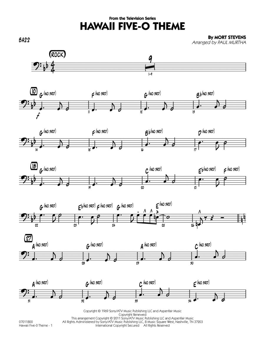 Hawaii Five-O Theme - Bass